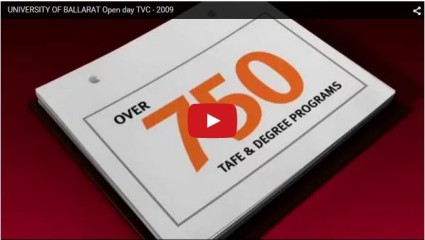 University of Ballarat Open Day TVC - animated tv commercial